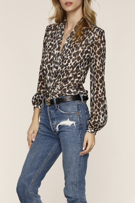 Image of Heartloom Camille Leopard Plunge Top