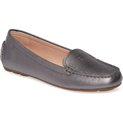 Taryn Rose Karen Water Resistant Driving Loafer, Grey