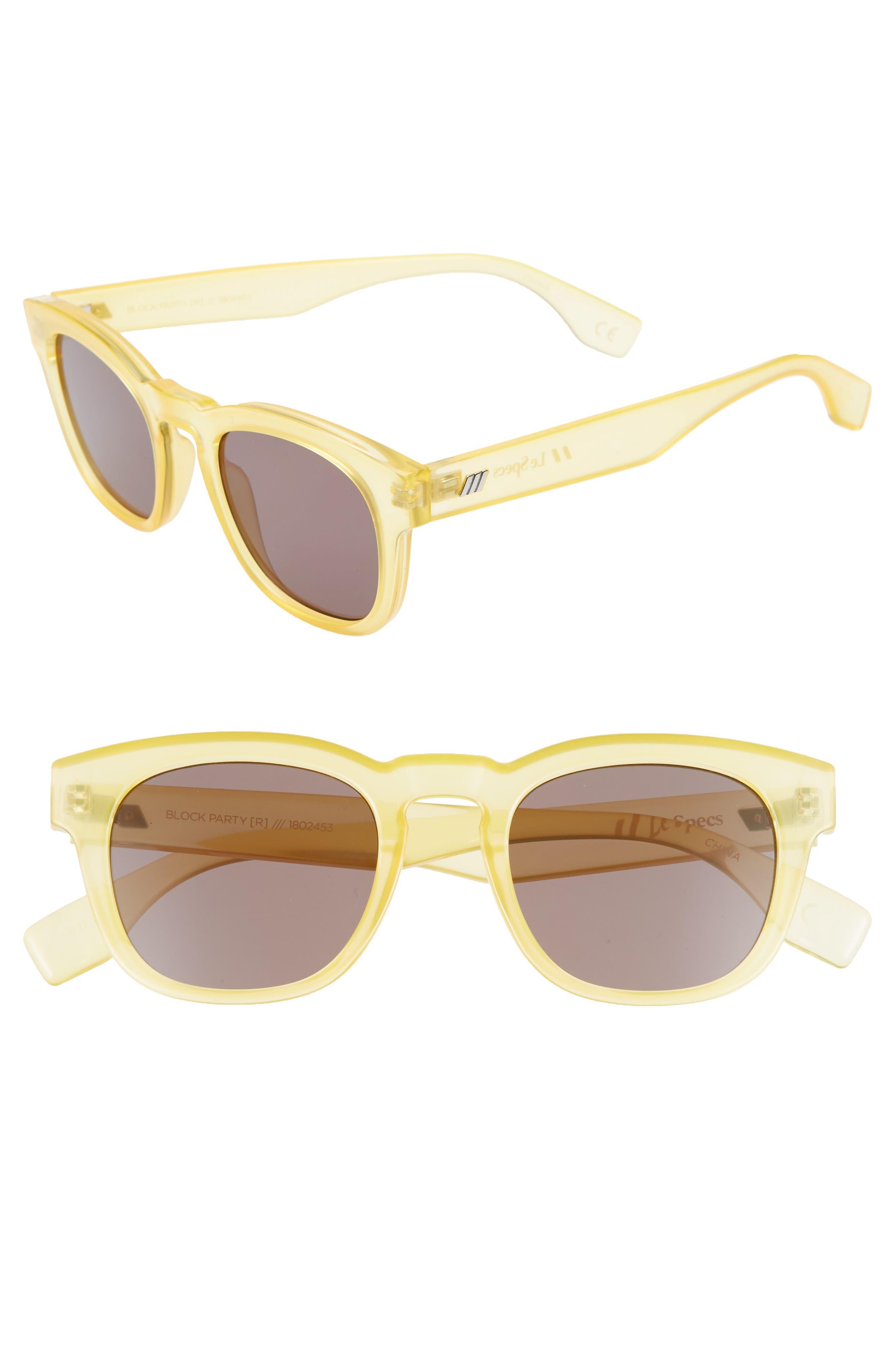 Le Specs Block Party 4m Round Sunglasses - Amber