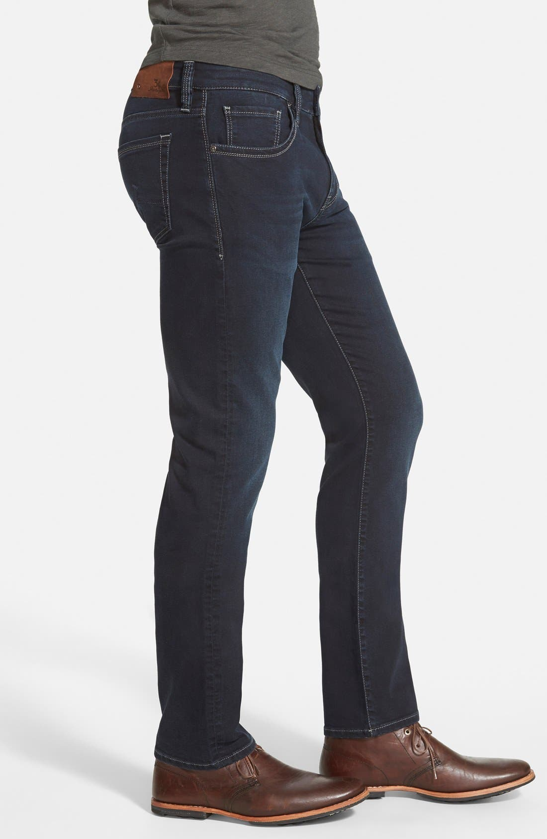 ,                             Courage Straight Leg Jeans,                             Alternate thumbnail 4, color,                             MIDNIGHT AUSTIN