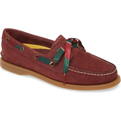 Sperry Authentic Original 2-Eyelet Boat Shoe- Burgundy