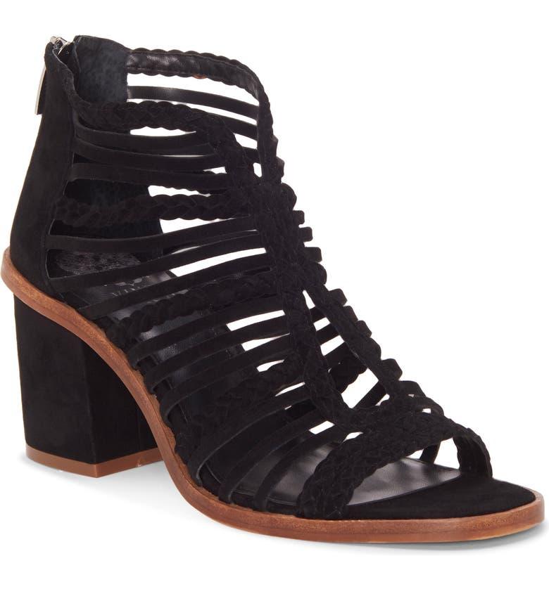 VINCE CAMUTO Kestal Sandal, Main, color, BLACK SUEDE