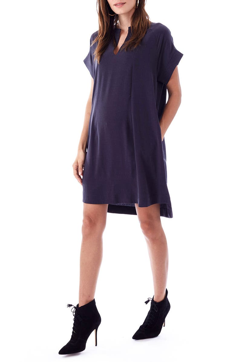 LOYAL HANA Cybelle Maternity/Nursing Shirtdress, Main, color, 010