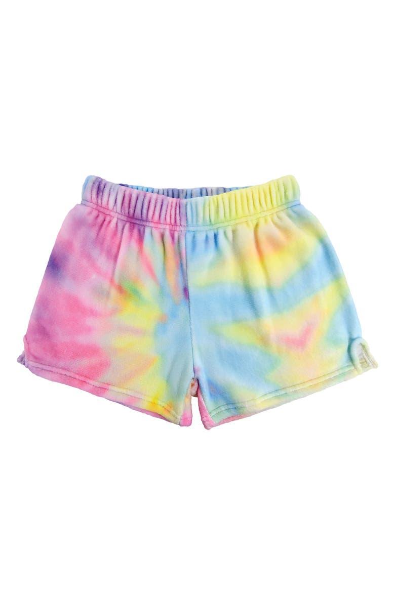 ISCREAM Pastel Tie Dye Pajama Shorts, Main, color, 680