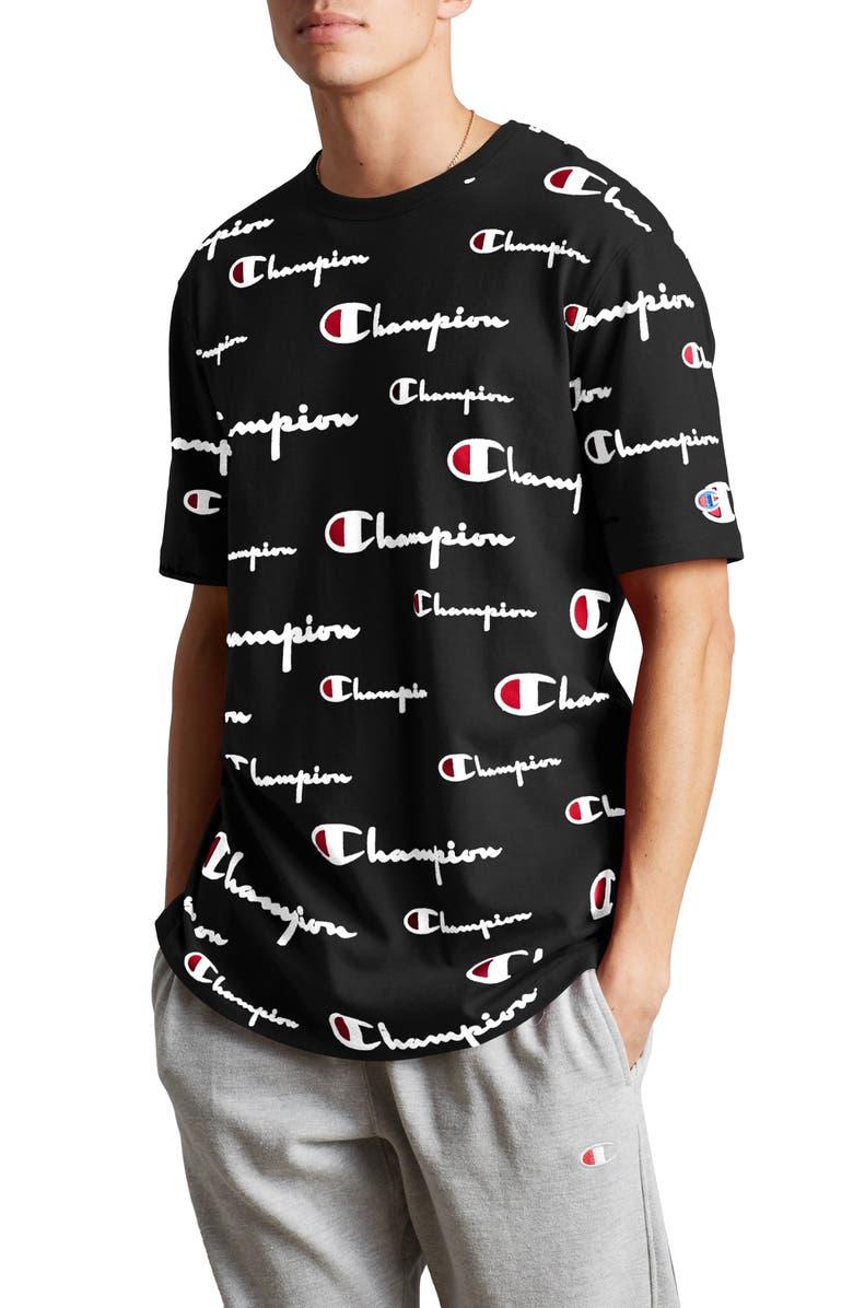 mode la plus désirable boutique pour officiel grande variété de modèles All-Over Script Heritage Cotton Crewneck T-Shirt