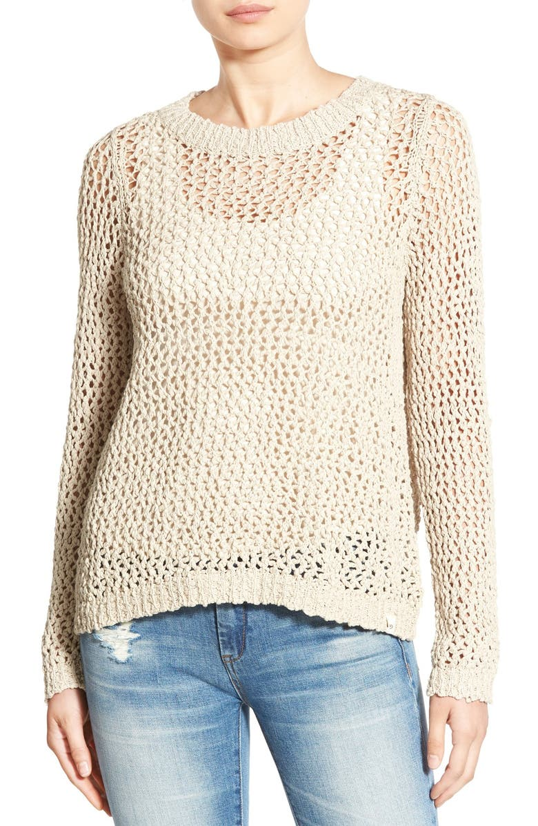 RIP CURL 'Looking Back' Mesh Knit Pullover, Main, color, 250