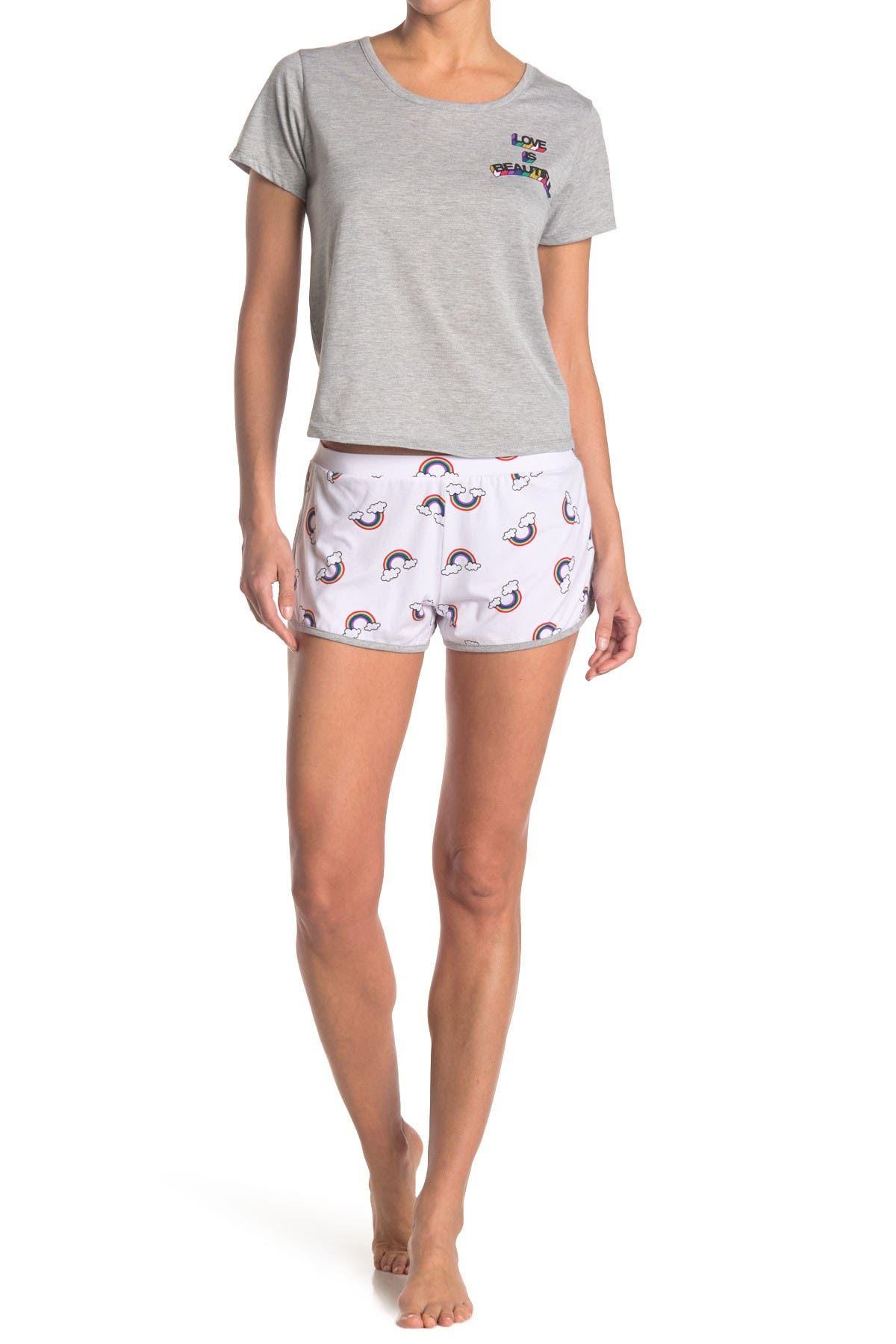 Image of PJ Couture Rainbow 2-Piece T-Shirt & Shorts PJ Set