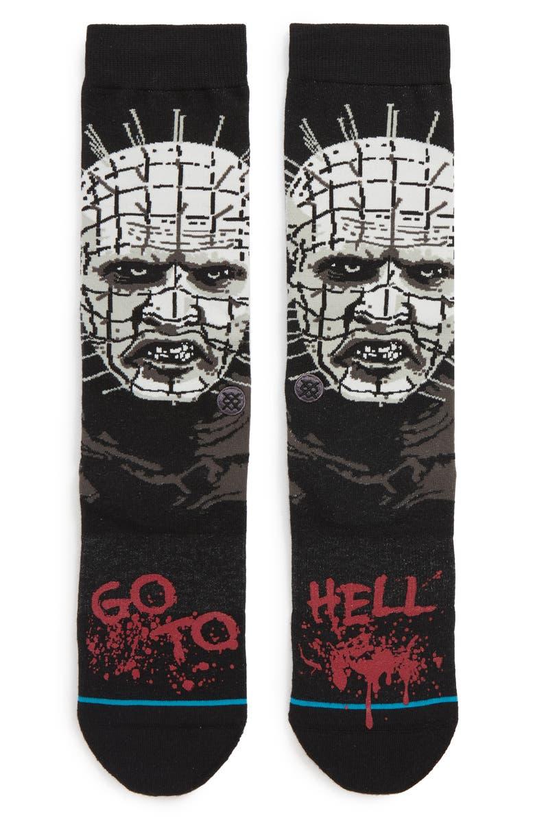 STANCE Hellraiser Socks, Main, color, BLACK