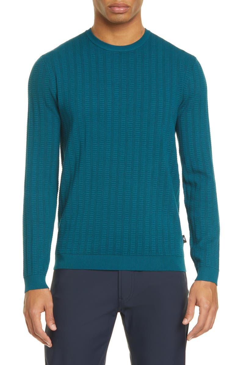 EMPORIO ARMANI Slim Fit Crewneck Sweater, Main, color, 440