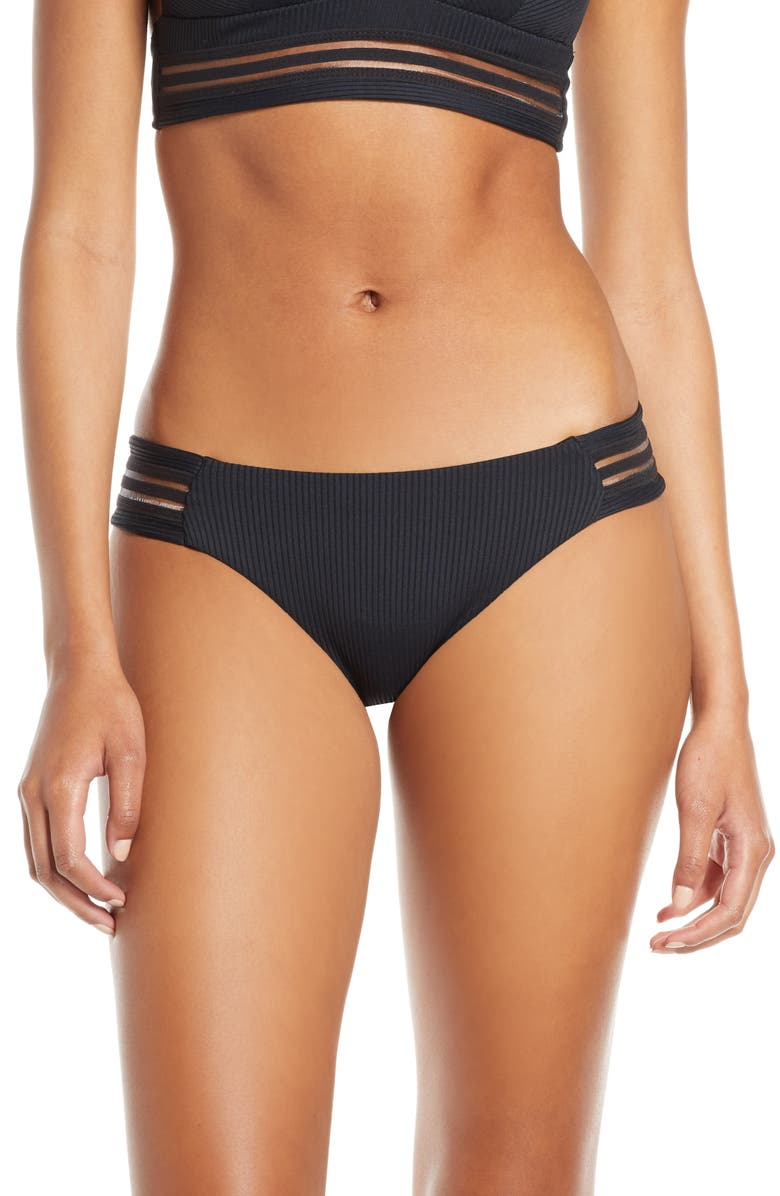 ISABELLA ROSE Queensland Bikini Bottoms, Main, color, BLACK