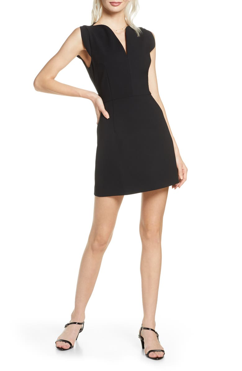 FRENCH CONNECTION Lolo Sundae Minidress, Main, color, BLACK