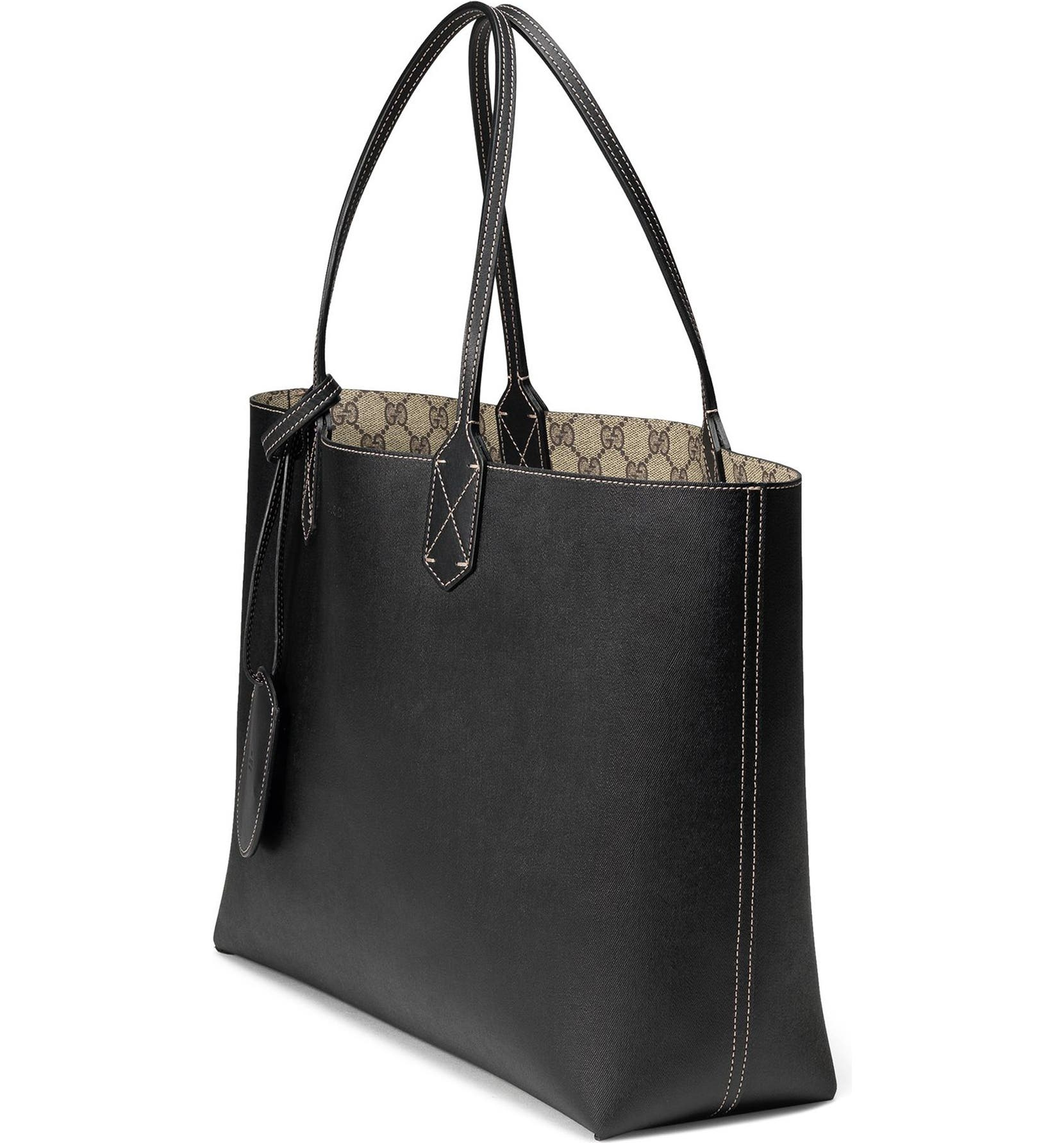 4856464fcbf6 Gucci Medium Turnaround Reversible Leather Tote | Nordstrom
