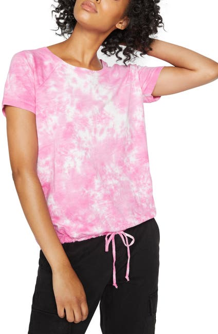 Image of Sanctuary Lou Tie Dye Drawstring Tee