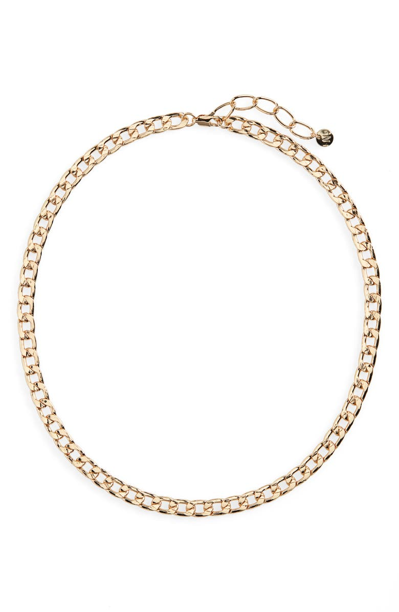 NORDSTROM Classic Curb Chain Necklace, Main, color, GOLD