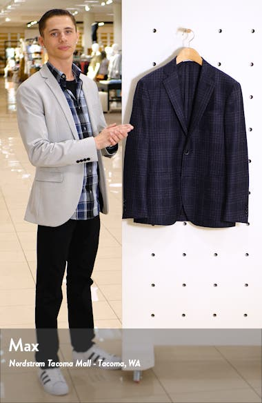 Trim Fit Plaid Wool Sport Coat, sales video thumbnail