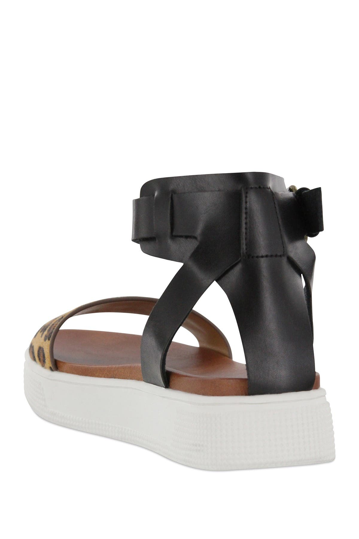 mia ellen platform sandal black