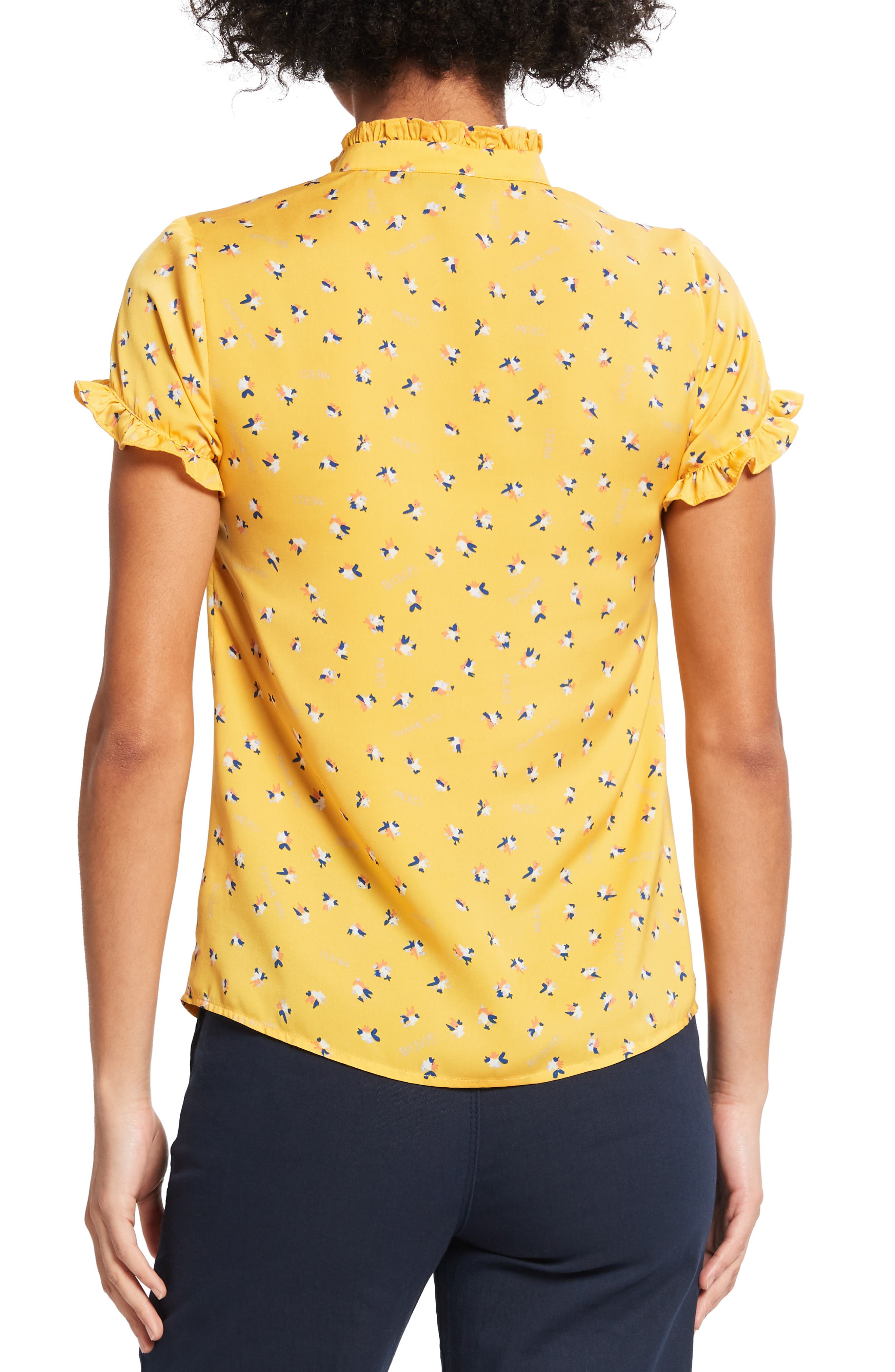 ,                             Form of Flattery Ruffle Top,                             Alternate thumbnail 2, color,                             YELLOW MULTI