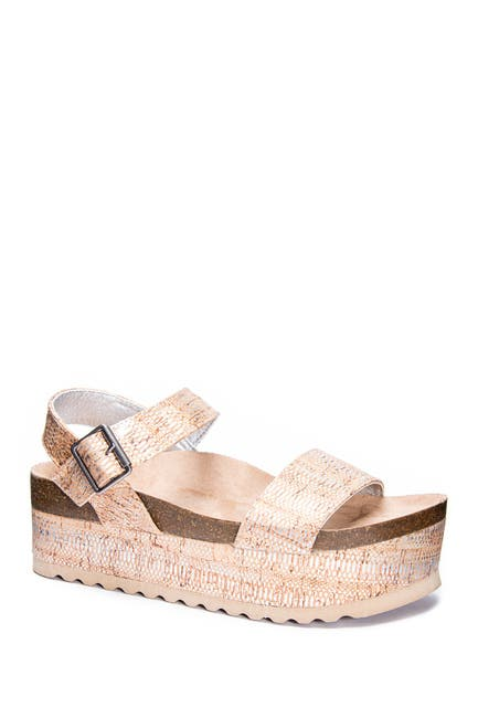 Image of Dirty Laundry Palms Cork Platform Sandal
