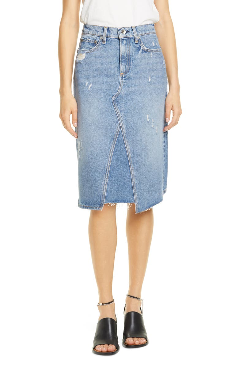 RAG & BONE Denim Skirt, Main, color, 420