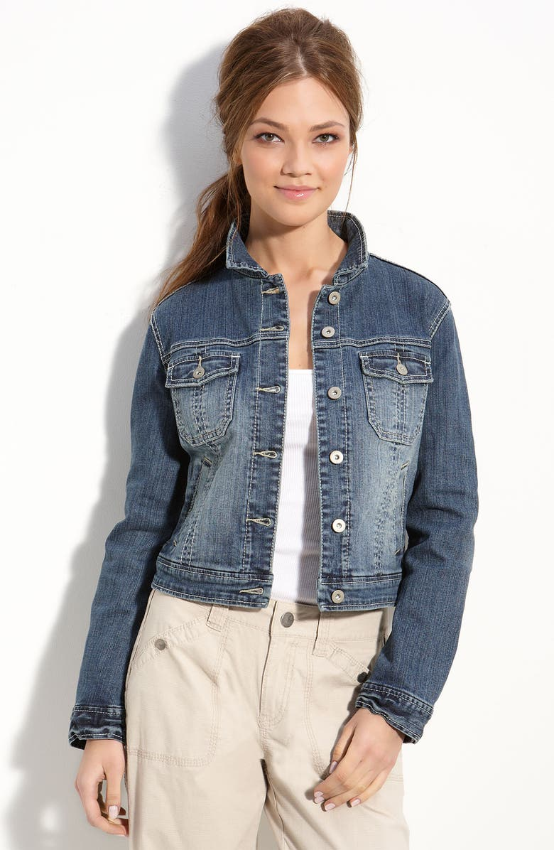SISTER MOON Denim Jacket, Main, color, 401
