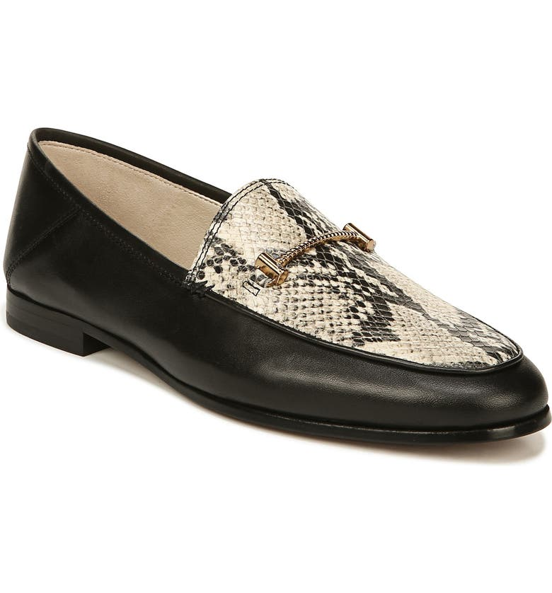 SAM EDELMAN Lior Loafer, Main, color, BLACK BEACH MULTI