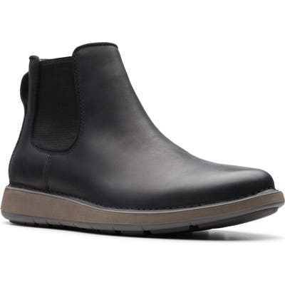 Clarks Un. larvik Chelsea Boot- Black