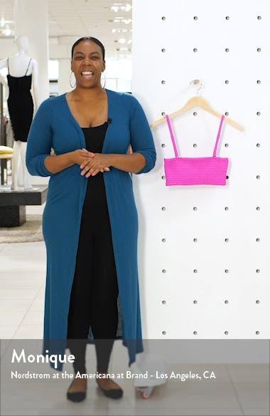 Reversible Smocked Bandeau Bikini Top, sales video thumbnail