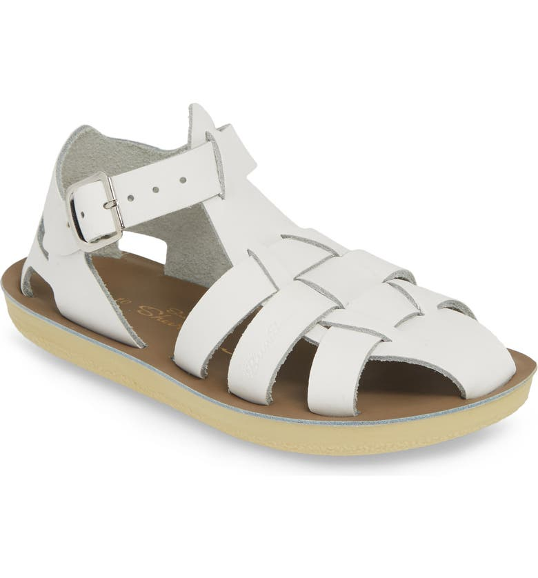 SALT WATER SANDALS BY HOY Sun San Shark Water Friendly Sandal, Main, color, WHITE
