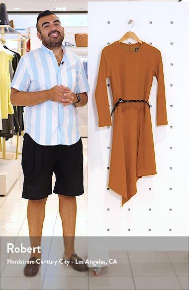 Asymmetrical Long Sleeve Knit Dress, sales video thumbnail