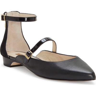Louise Et Cie Claire Ankle Strap Flat, Black