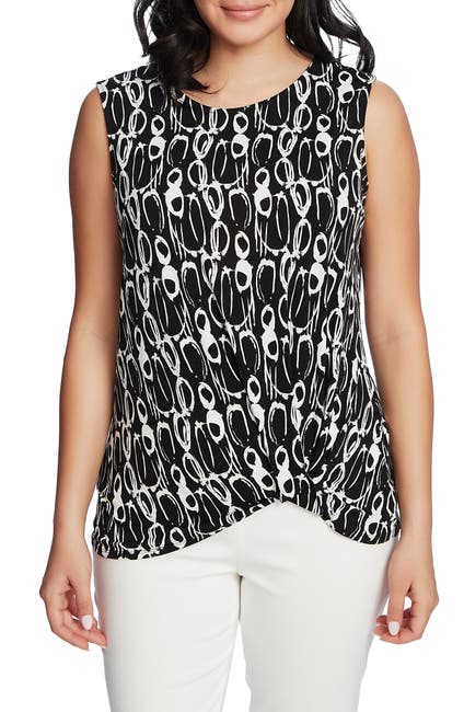 Image of Chaus Sleeveless Abstract Movements Top