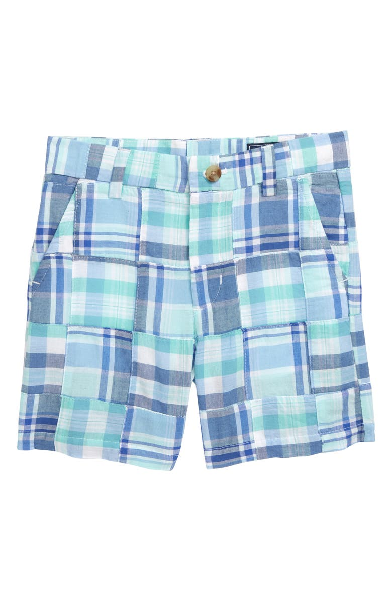 VINEYARD VINES Breaker Madras Shorts, Main, color, CRYSTAL BLUE
