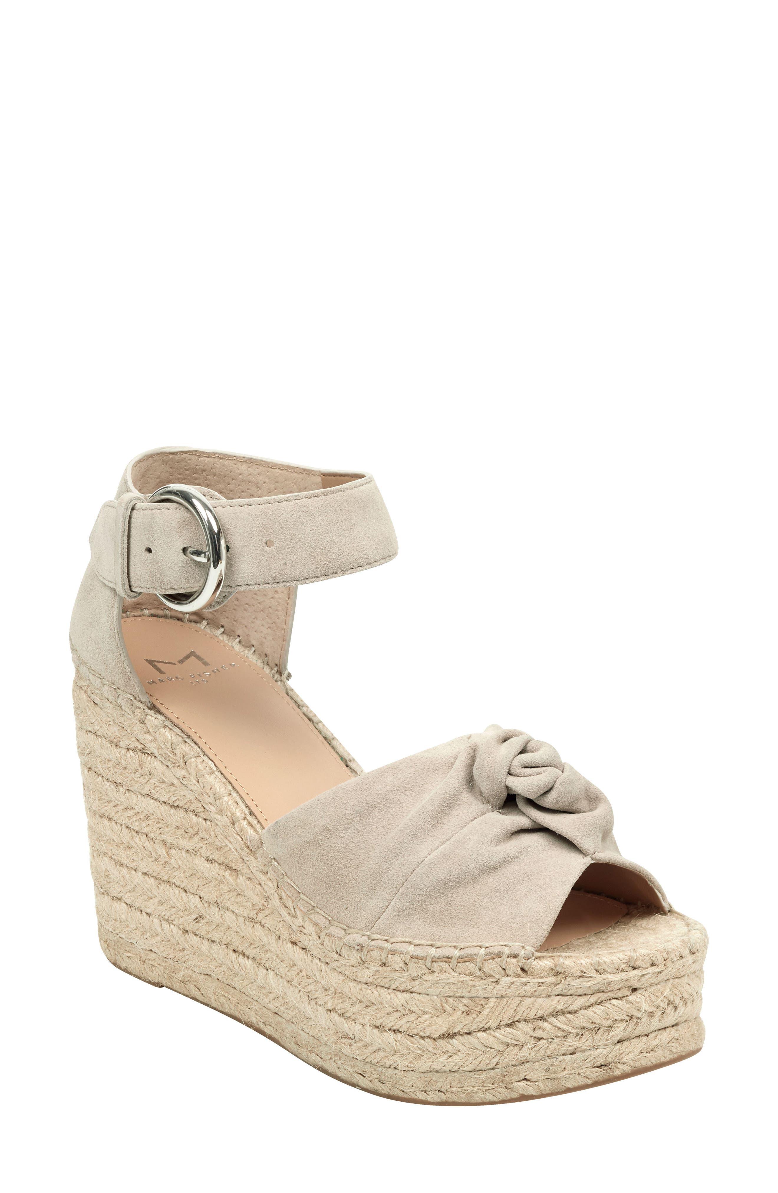 Marc Fisher Ltd Anty Platform Espadrille Sandal, Beige
