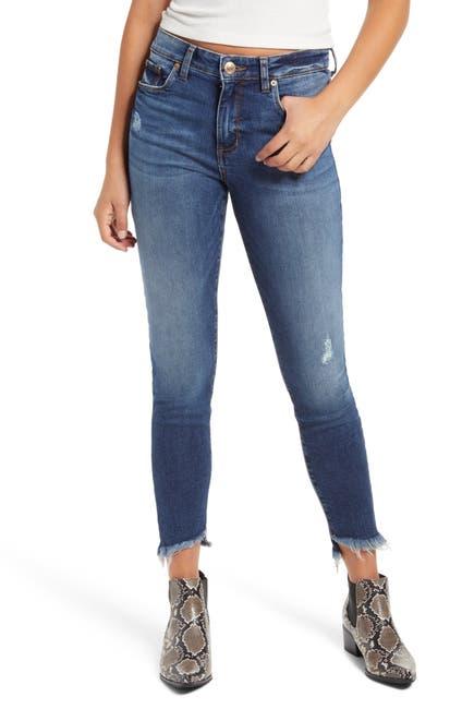 Image of STS BLUE Ellie High Rise Frayed Hem Skinny Jeans