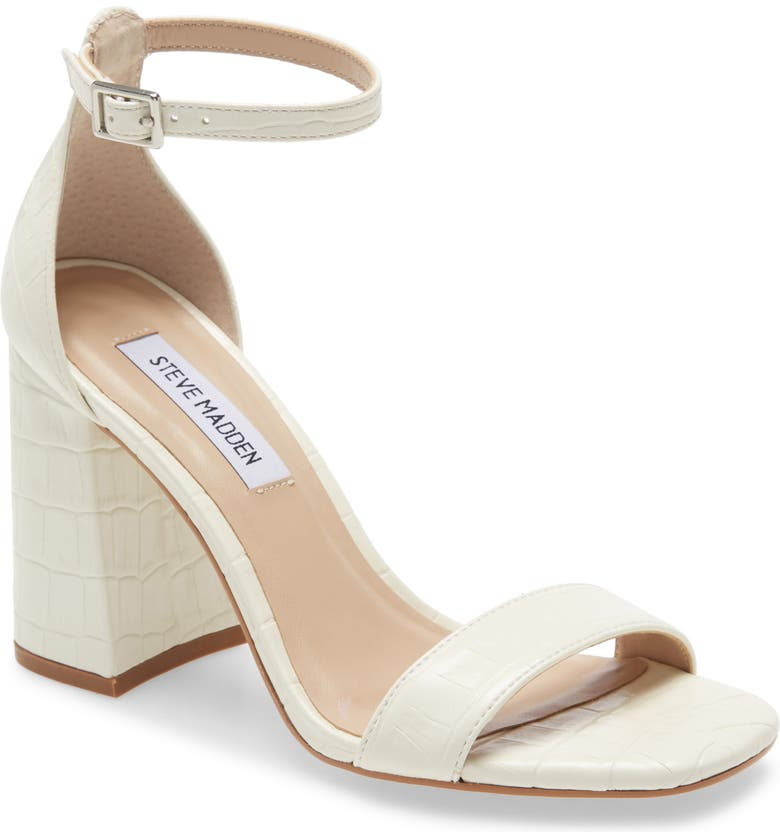STEVE MADDEN Dillon Sandal, Main, color, WHITE CROCO
