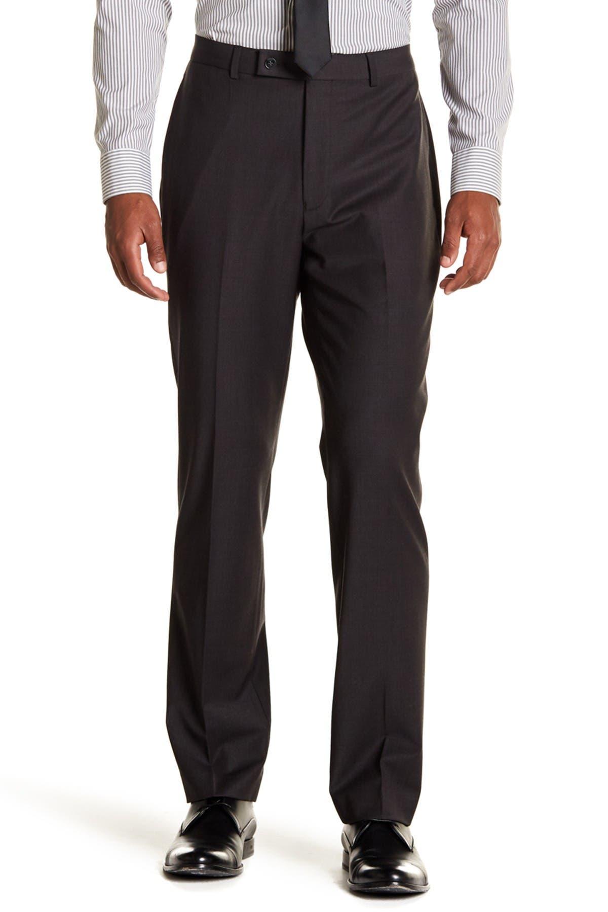 "Image of Calvin Klein Solid Gray Wool Suit Separate Pants - 30-34"" Inseam"
