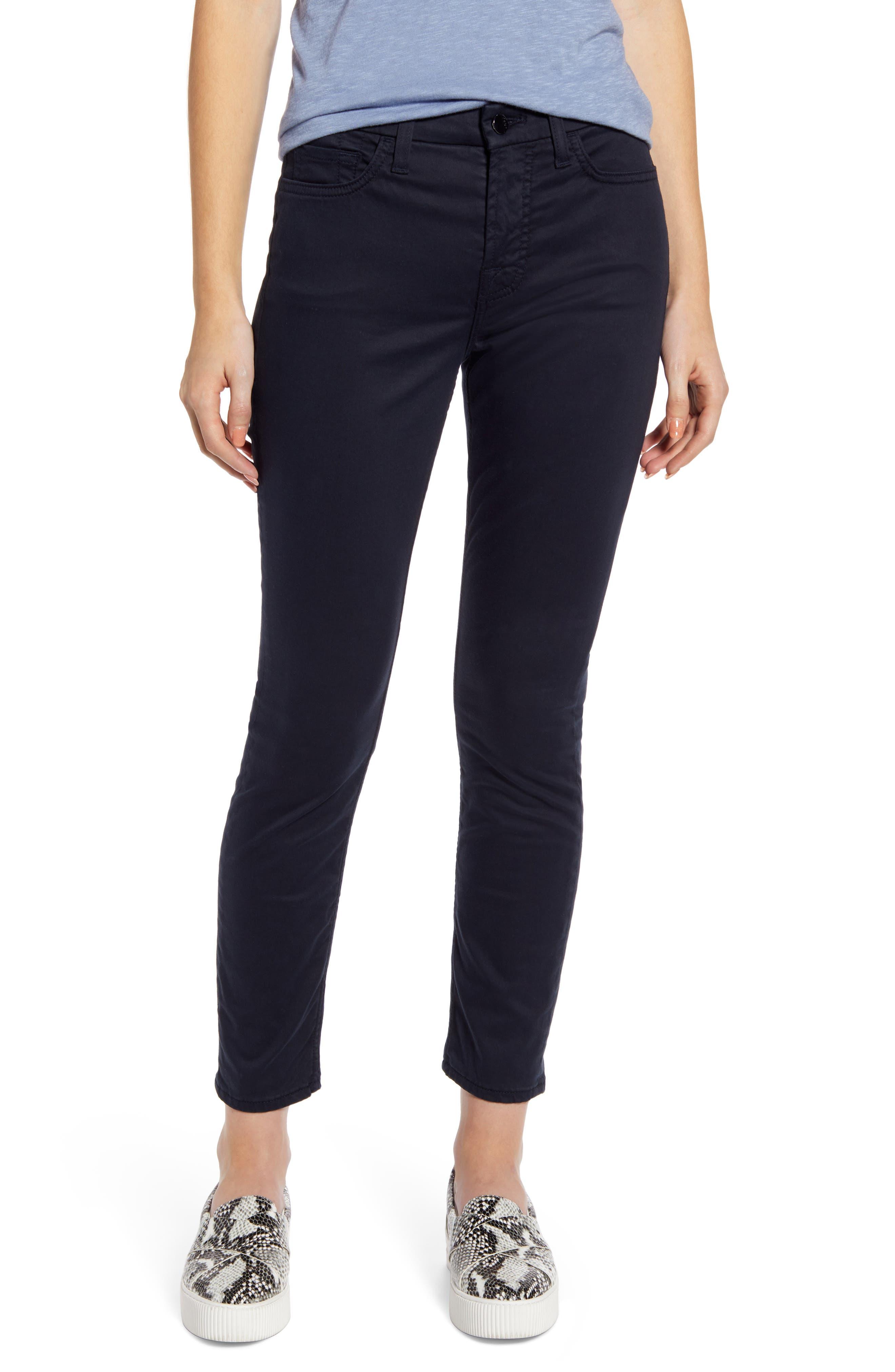 Sateen Ankle Skinny Jeans