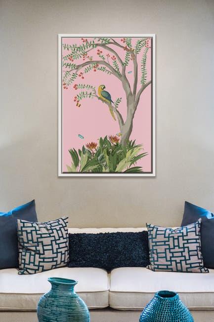 Image of PTM Images Parrot Tree-Medium Floater Framed Canvas