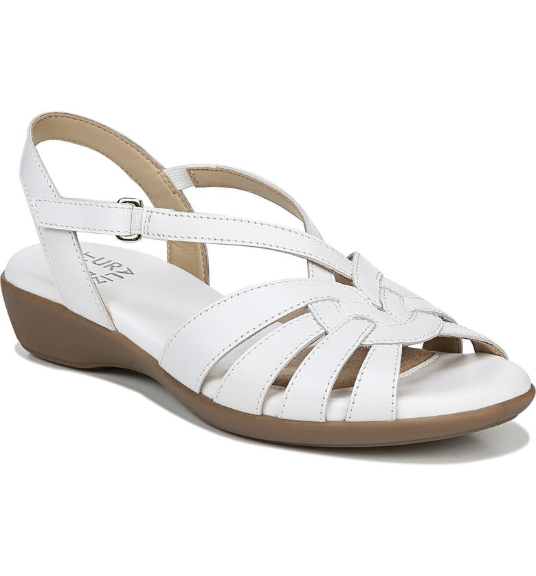 NATURALIZER Neka Sandal, Main, color, WHITE LEATHER