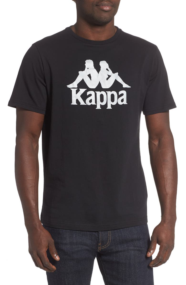 KAPPA Authentic Estessi Graphic T-Shirt, Main, color, BLACK-GREY REFLECTIVE