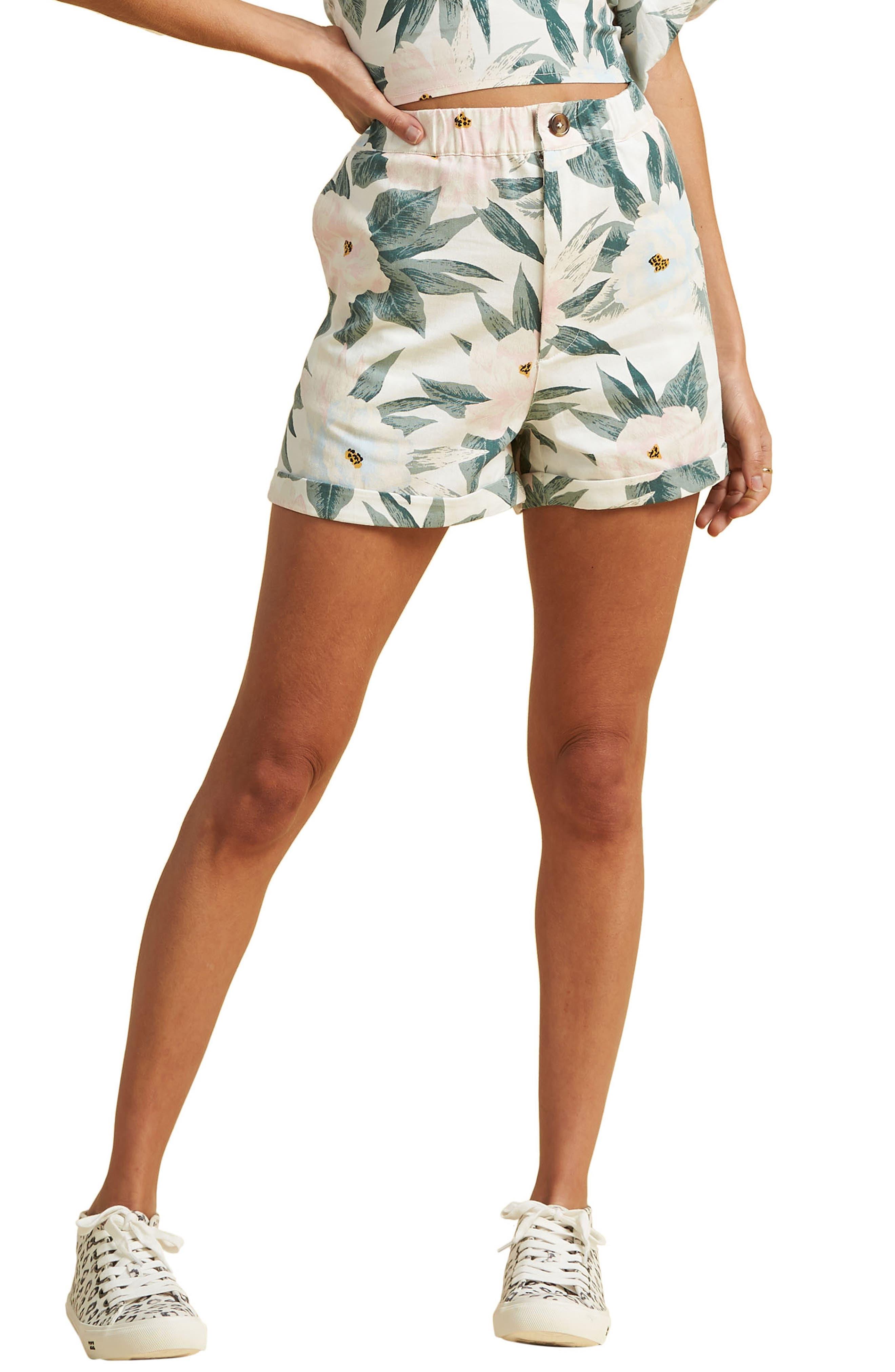 X The Salty Blonde Sun Bleached High Waist Shorts