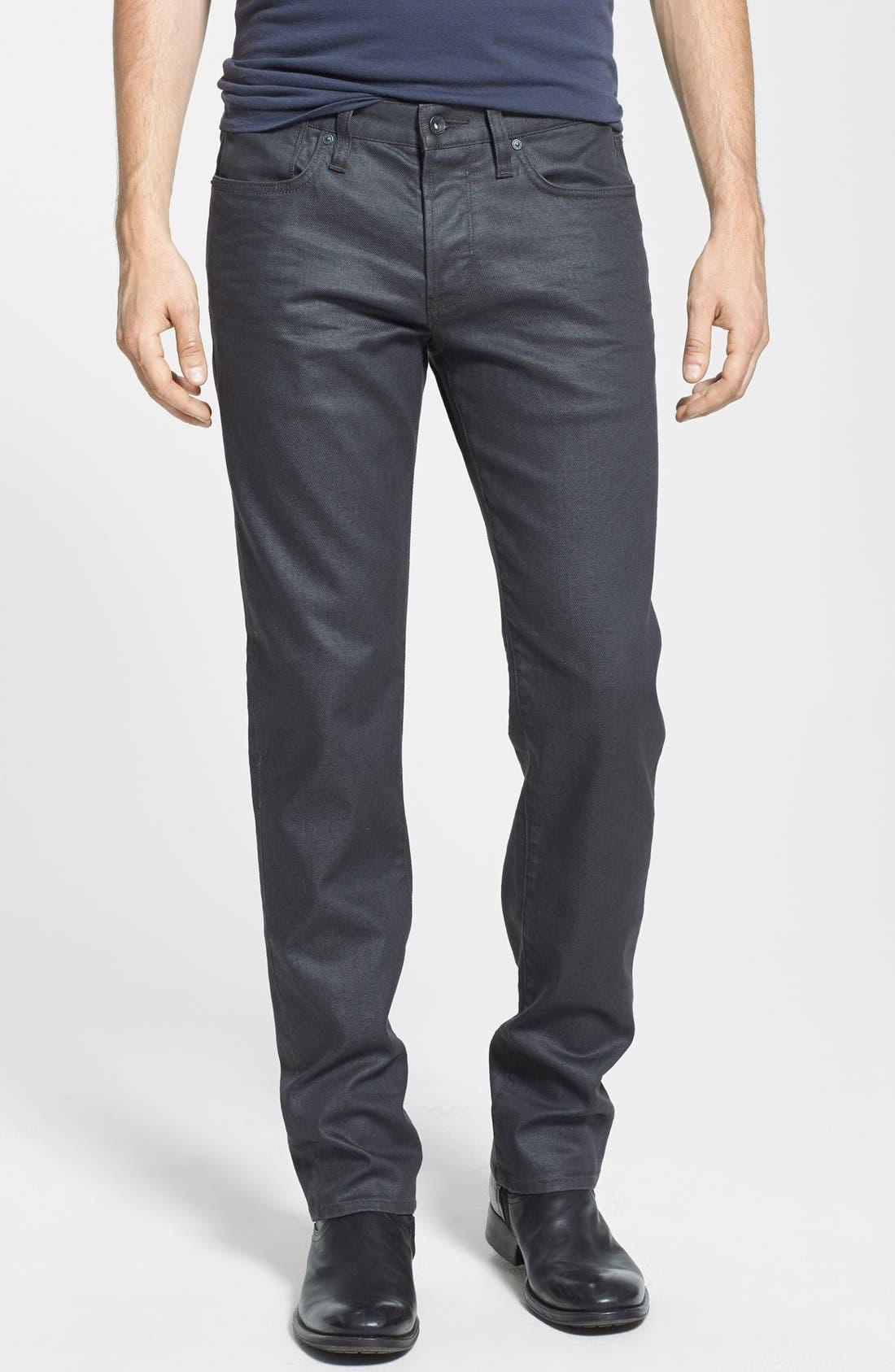 Men's John Varvatos Star Usa 'Bowery' Slim Straight Leg Coated Jeans