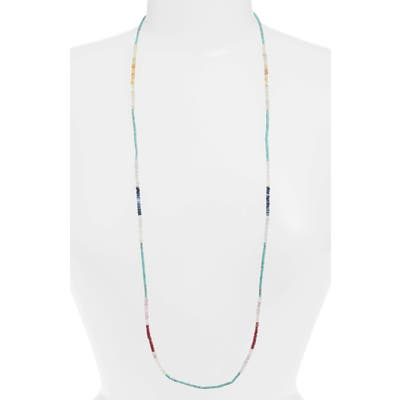 Armenta New World Sapphire & Turquoise Beaded Long Necklace