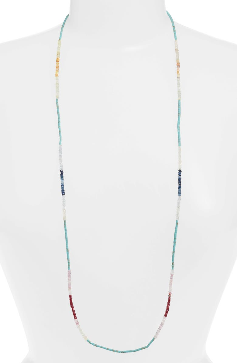 ARMENTA New World Sapphire & Turquoise Beaded Long Necklace, Main, color, SILVER/ SAPPHIRE/ TURQUOISE