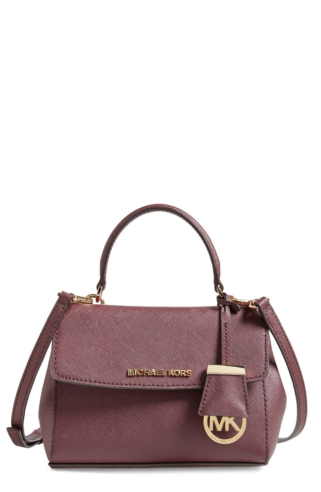 ,                             'Extra Small Ava' Leather Crossbody Bag,                             Main thumbnail 16, color,                             649