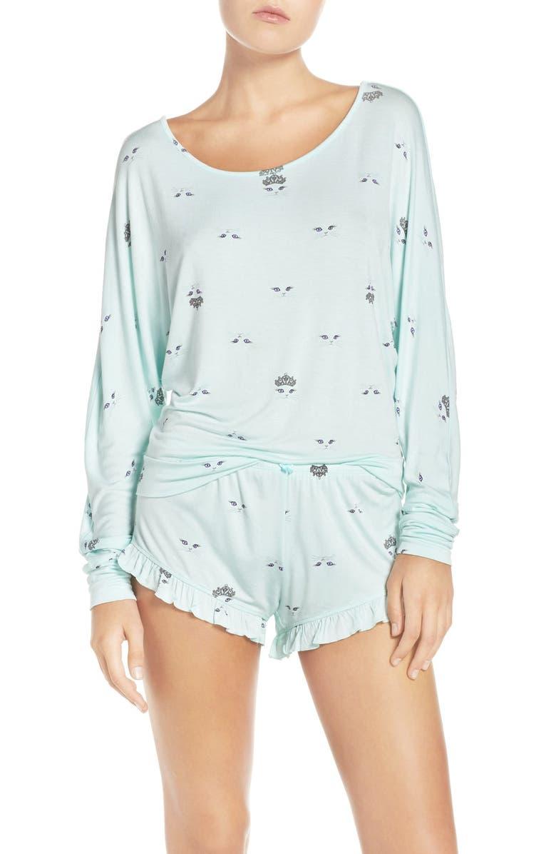 BETSEY JOHNSON Print Dolman Short Pajamas, Main, color, 400