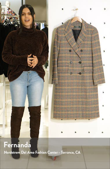 Houndstooth Wool Blend Trench, sales video thumbnail