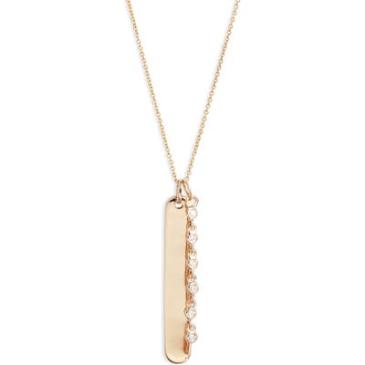 Dana Rebecca Designs Lulu Jack Diamond Bar Pendant Necklace