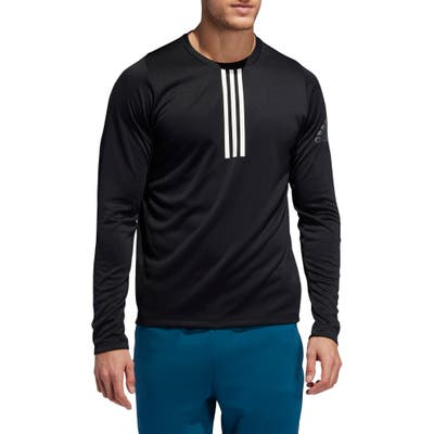 Adidas 3-Stripe Climalite Long Sleeve Performance T-Shirt