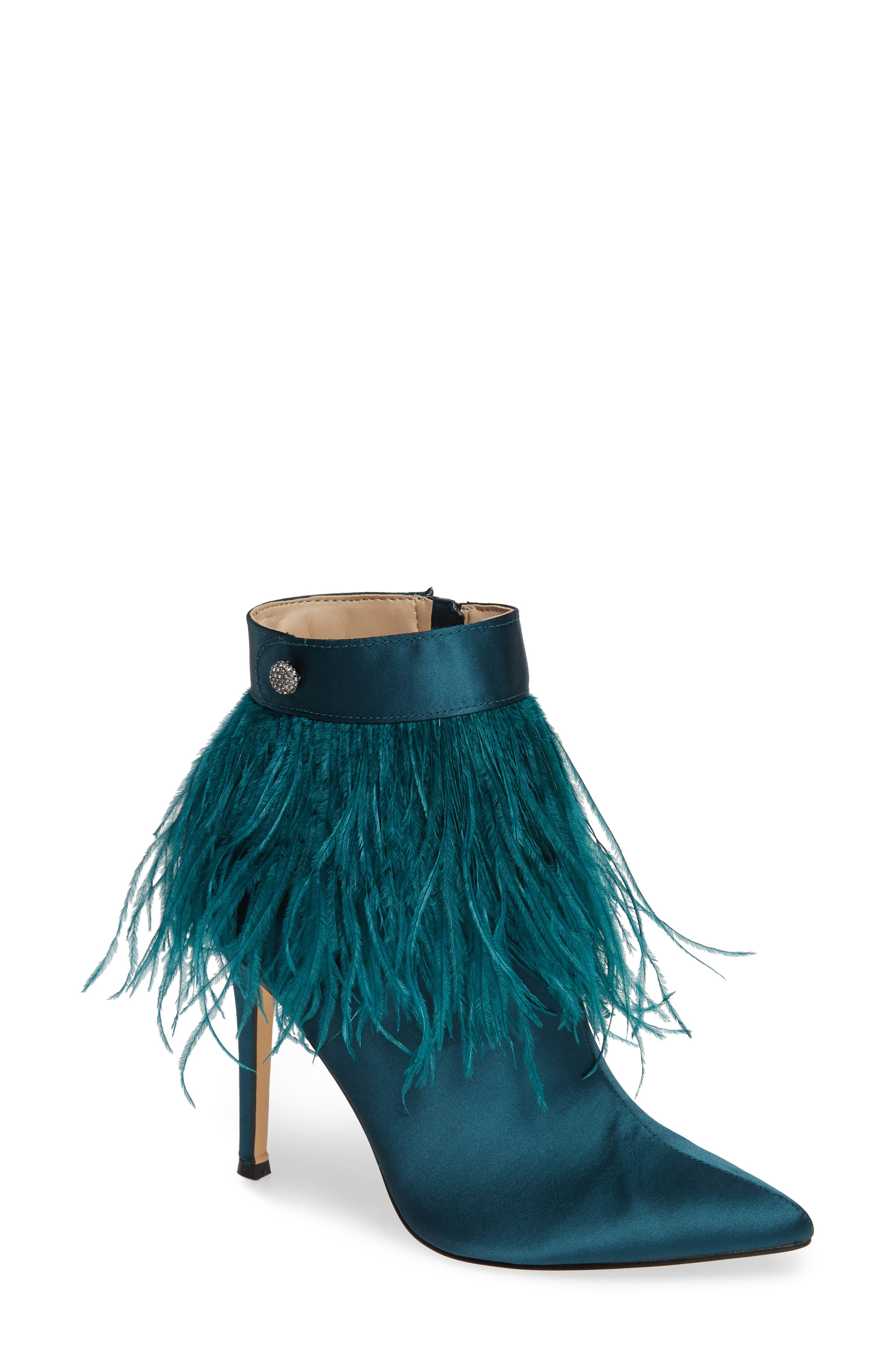 Danella Feather Bootie, Main, color, PINE SATIN